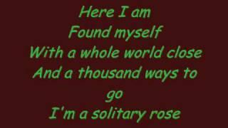 Jeanette Biedermann-Solitary Rose Lyrics.wmv