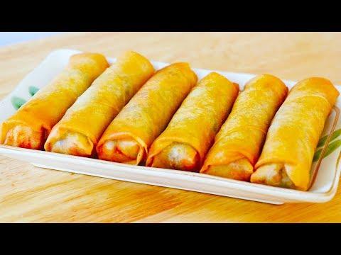 How To Cook Crispy Shrimp Spring Rolls , CiCi Li - Asian Home Cooking Recipes