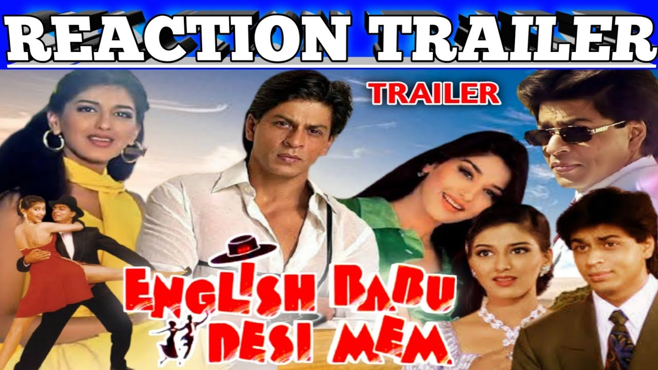 Download English Babu Desi Mem 1996 Trailer|Reaction|Best Romantic Movie|Shah Rukh Khan/Sonali Bendre