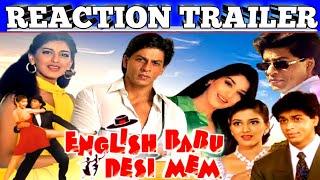 English Babu Desi Mem 1996 Trailer|Reaction|Romantic|Shah Rukh Khan,Sonali Bendre|#AjayVermaReaction