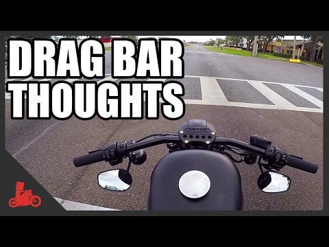 Drag Bar Thoughts on Harley Iron 883 - YouTube