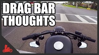 Drag Bar Thoughts on Harley Iron 883