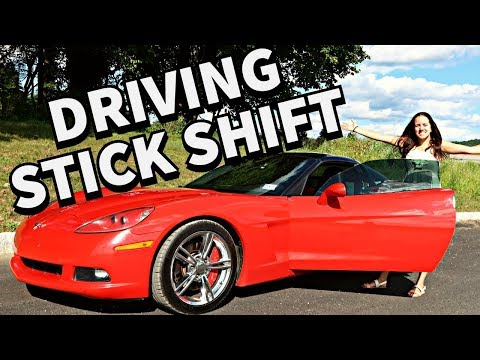 TEACHING MY WIFE HOW TO DRIVE STICK SHIFT. FEAT. CORVETTE