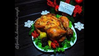 Курица с яблоками и черносливом, запеченная в духовке: рецепт от Foodman.club