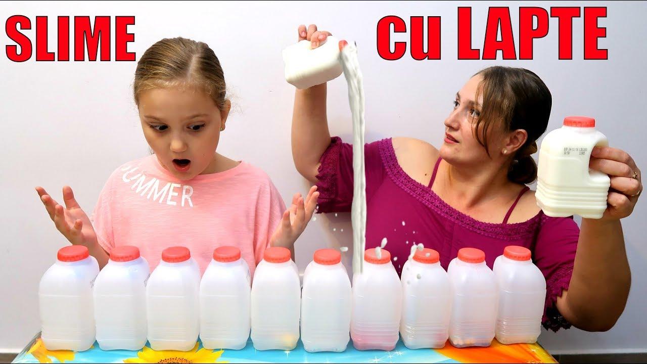 NU Alege LAPTE Slime Challenge Don't Choose the Milk