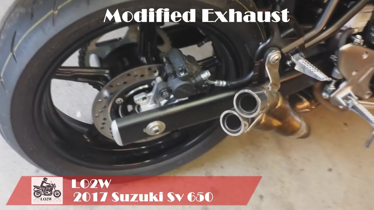 top 5 full exhaust sound suzuki sv650 yoshimura two brothers modified exhaust