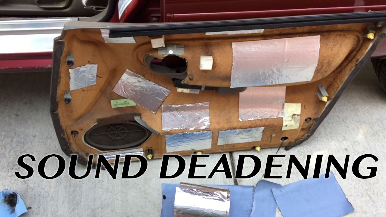 Cheap And Affordable Sound Deadening In A Car Youtube
