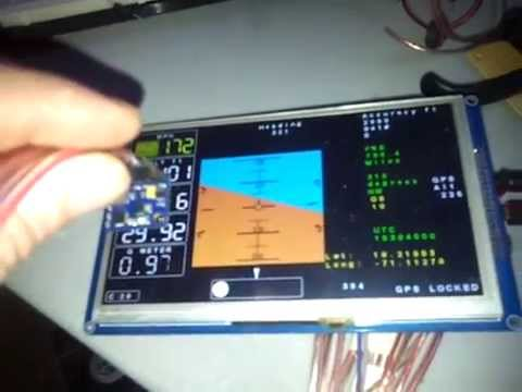 """DIY EFIS Arduino Due Based, on a 7"""" LCD"""