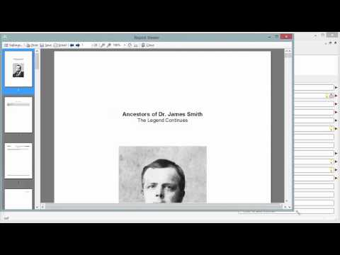 Using RootsMagic Publisher to Create a Book
