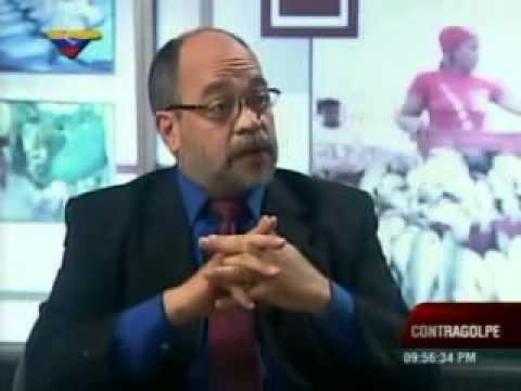 Entrevista al ministro Pedro Calzadilla este 19 de abril de 2013 en Contragolpe