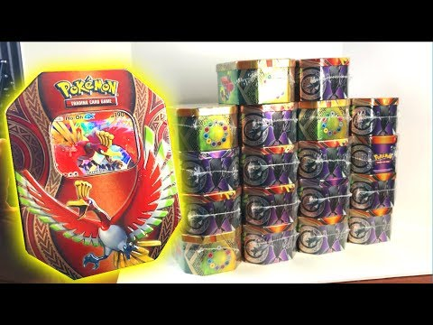 OPENING TONS OF POKEMON CARDS TINS!