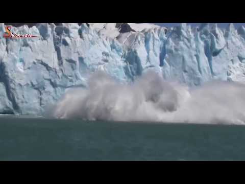 Massive Glacier wall collapse 2k18, glacier national park | iceberg | glacier | shock wave