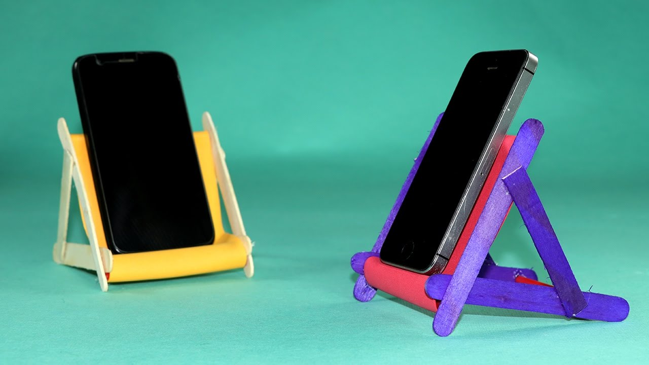Popsicle Stick DIY Phone Stand How To Make Mobile
