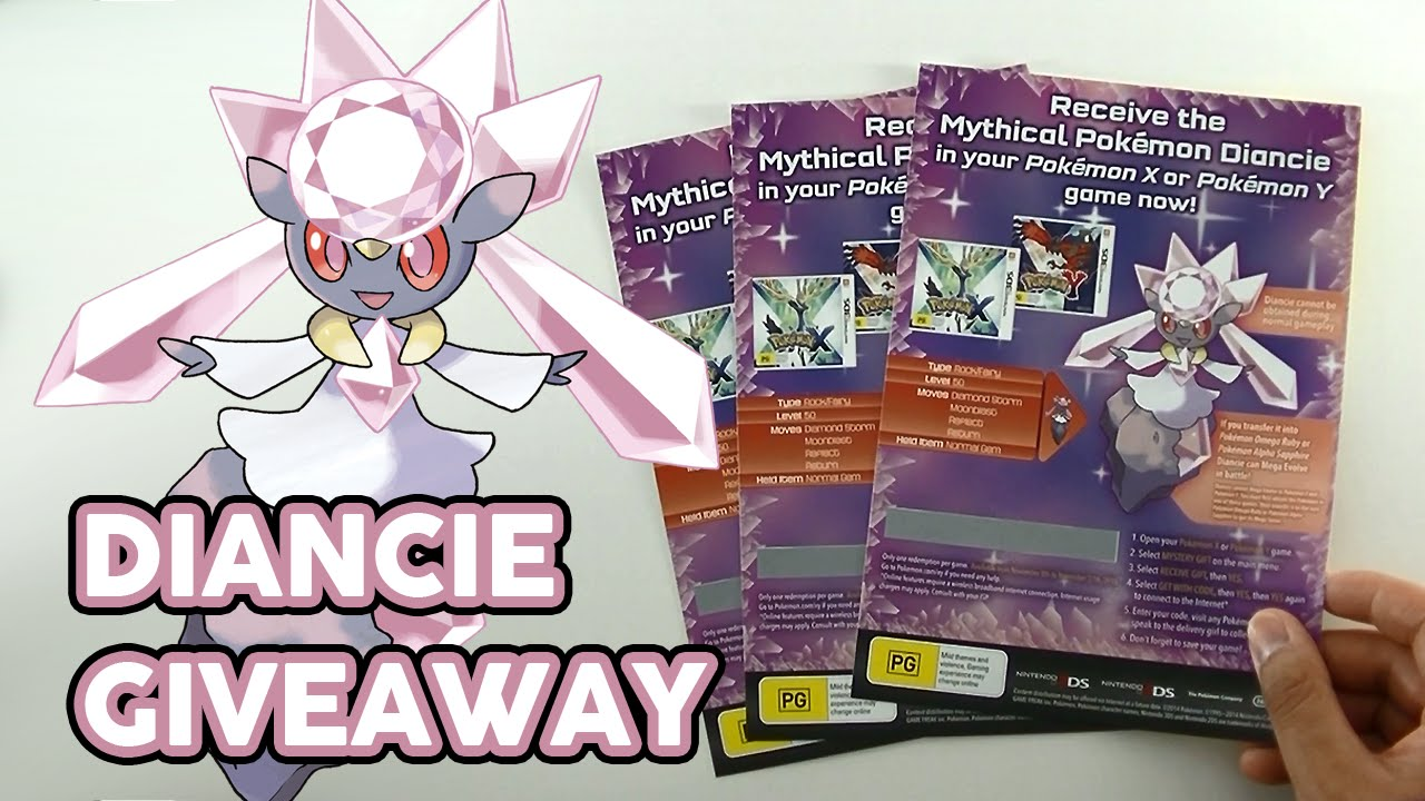 CLOSED] Pokemon Diancie Code Giveaway (Pokemon Omega Ruby / Alpha ...