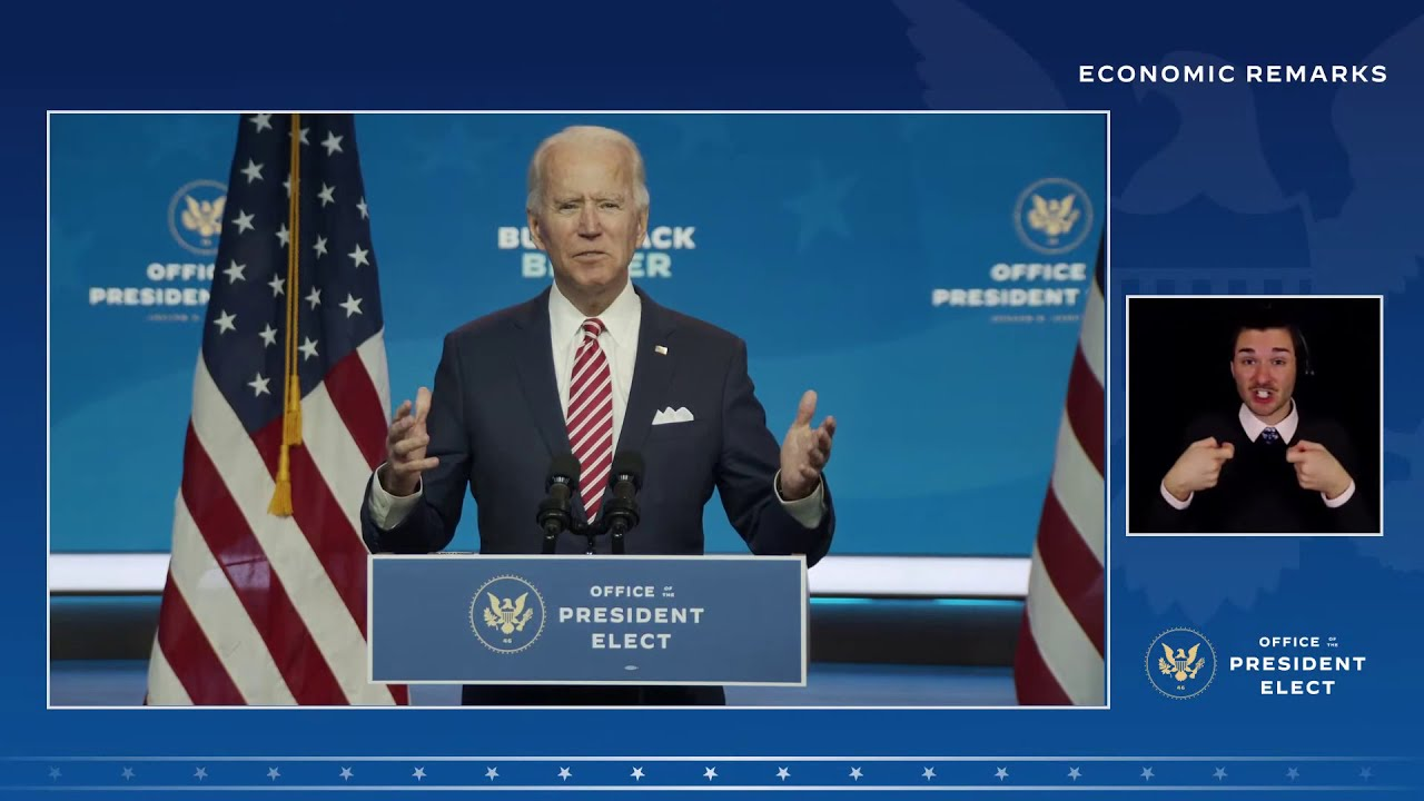 Remarks by President-elect Joe Biden and Vice President-elect Kamala Harris on the Economy