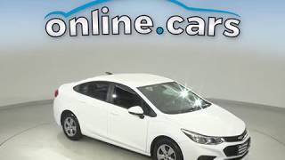 A10549WT Used 2017 Chevrolet Cruze LS FWD 4D Sedan White Test Drive, Review, For Sale