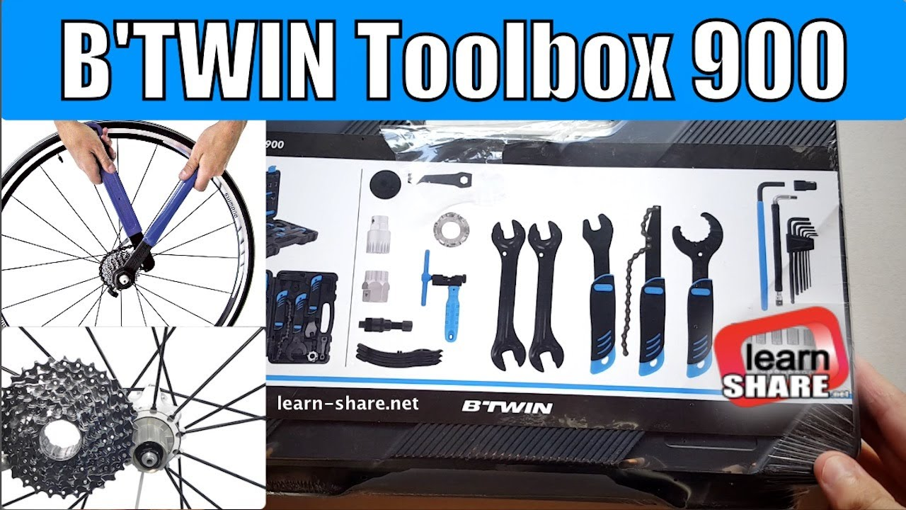 7f613041631 Bike Tool Kit Set - Bike Tools Must Have - BTWIN 900 Tool Box - YouTube