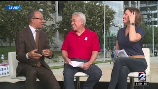 Lester Holt drops by NRG for Sunday Night Football on NBC