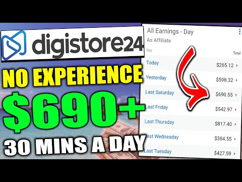 Digistore24 Affiliate Marketing For Beginners Tutorial To Make $690 A Day (Digistore24 Tutorial)