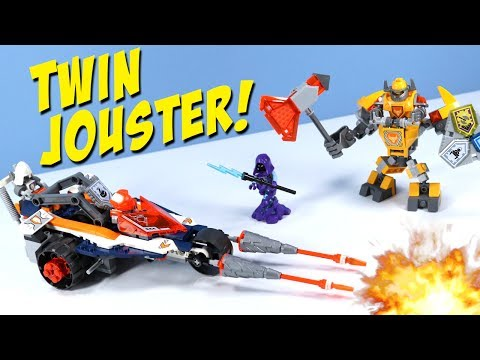 Thumbnail: LEGO NEXO Knights Lance's Twin Jouster and Battle Suit Axl Review