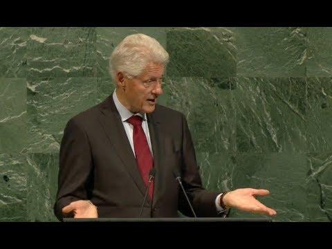 Bill Clinton At UN Model United Nations - Full Speech