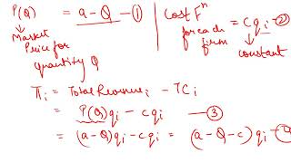 Cournot Model(n firms) - Nash Equilibrium