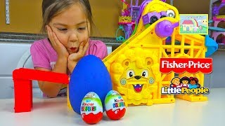 Amazing Little People Wheelies Roller Coaster & Play Doh Surprise Egg! Little People Toys