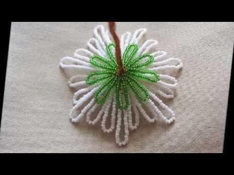 Ромашка из бисера Цветы из бисера с пошаговым фото для   начинающих