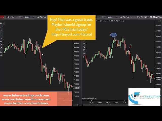 101719 -- Daily Market Review ES CL NQ - Live Futures Trading Call Room