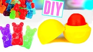 diy eos out of gummy bears make lip balm out of candy