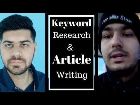 SEO : Keyword Research & Article Writing Tips 2018