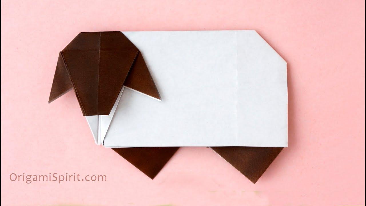 Origami Sheep Tutorial Oveja Paso A