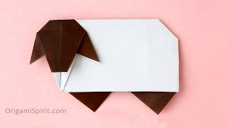 Origami Sheep Tutorial :: Oveja paso a paso