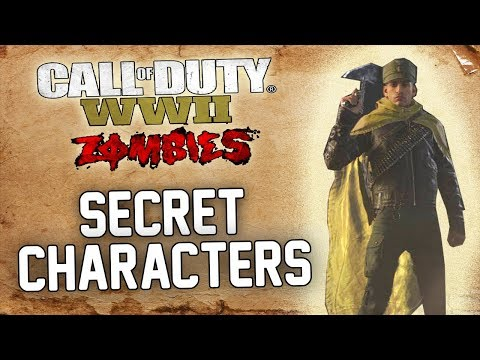 HOW TO UNLOCK ALL 6 SECRET PLAYABLE CHARACTERS! (WWII ZOMBIES)
