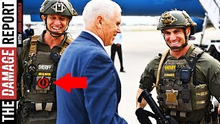 QAnon Cop Posed With Mike Pence