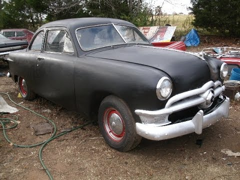 1950 ford 2 door coupe w running flat head v8 for sale