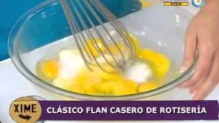 Clásico flan casero de rotisería