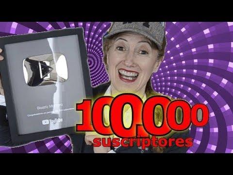 Premio Botón de Plata Youtube - 100 000 suscriptores - Cuentacuentos Beatriz Montero