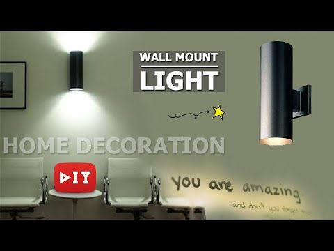 DIY How to Make Wall Hanging Lamp