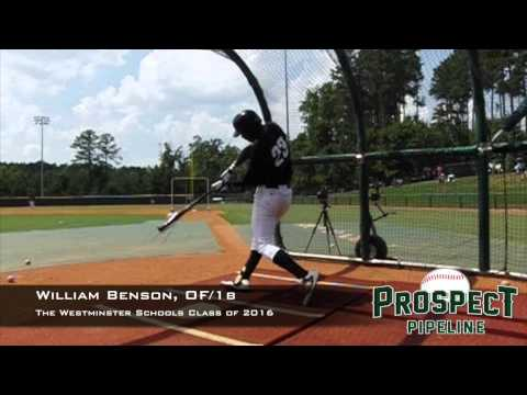 Will Benson, OF/1b, The Westminster Schools, Swing Mechanics at 200 fps #TOS15