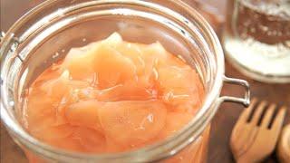 【新生姜の甘酢漬け】自家製ガリの作り方♪アレンジレシピも紹介します![sweet and sour pickled ginger]