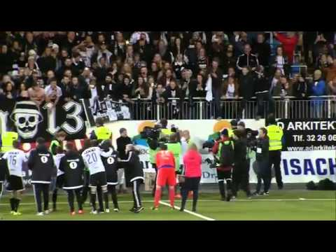 Rosenborg legend Mikael Dorsin leads fans in amazing chant after winning league title