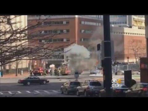 Manholes Explode In Boston
