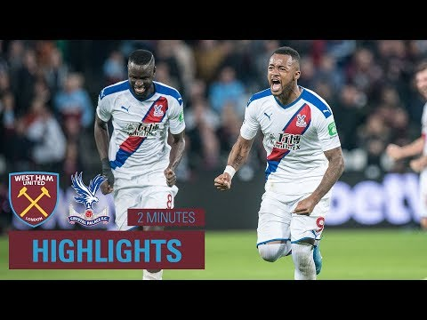 West Ham 1-2 Crystal Palace | 2 Minute Highlights