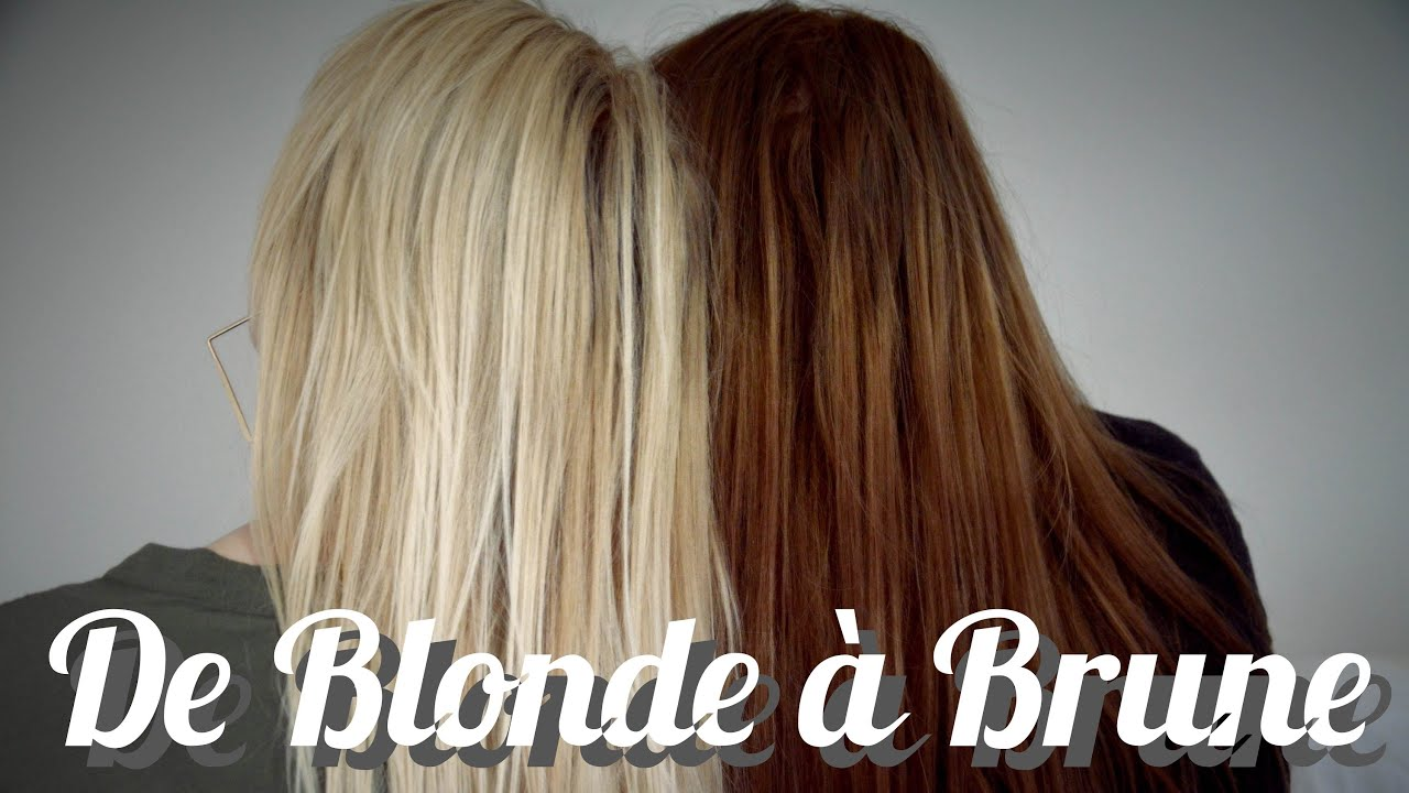 Coloration cheveux passer du brun au blond