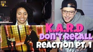 K.A.R.D - Jangan Ingat (Versi Bahasa Inggris) Reaksi Pt.1