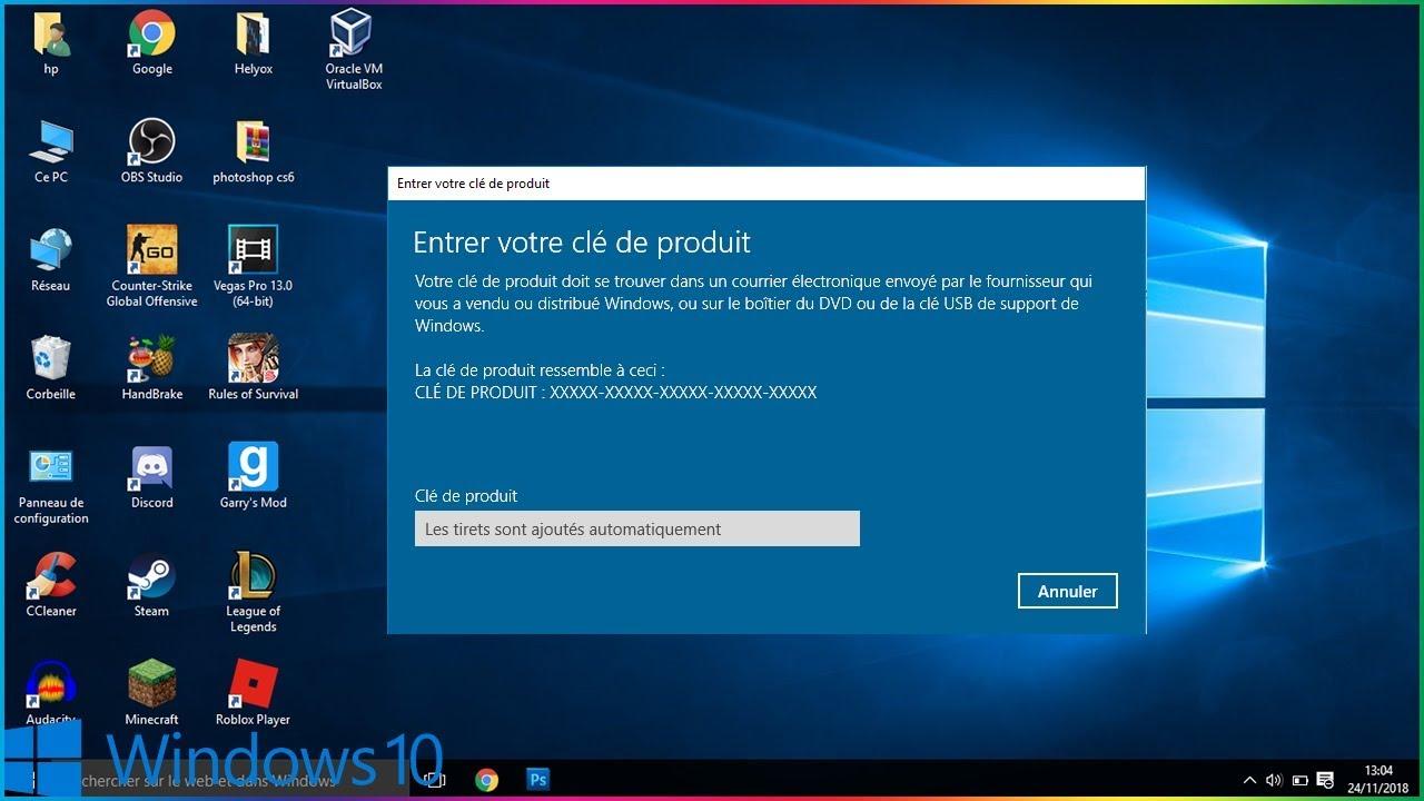 Comment Activer Une Cle Windows 10 Pro Gratuitement Et A