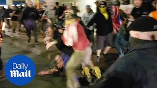 Fight breaks out in Oregon between left and right wing protestors
