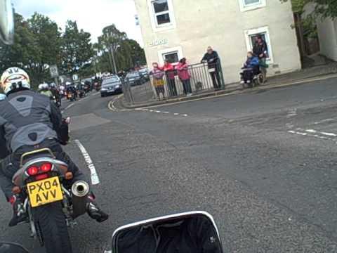 Steve Hislop memorial run 2010, journey into Denholm.