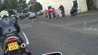 Steve Hislop memorial run 2010, journey into Denholm.